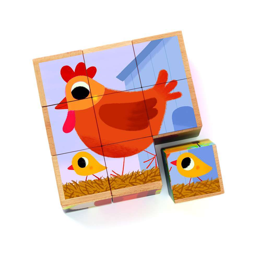 פאזל 9 קוביות-תרנגולת