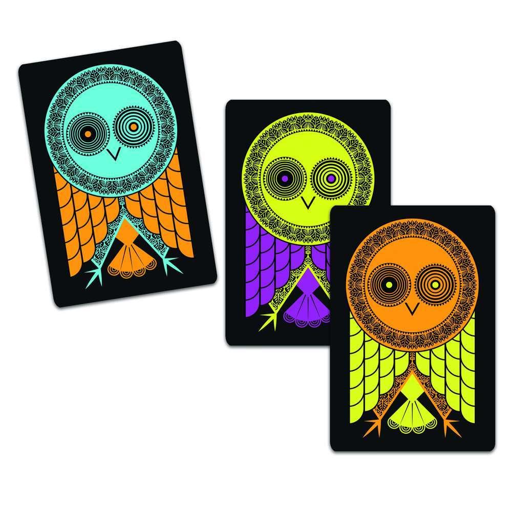 קלפים - ינשופים צבעוניים
