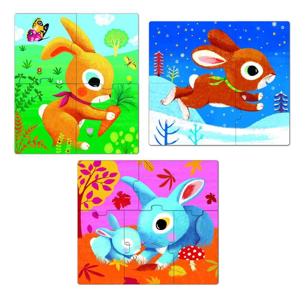 פאזל פרימו ארנבים - 3,4,5