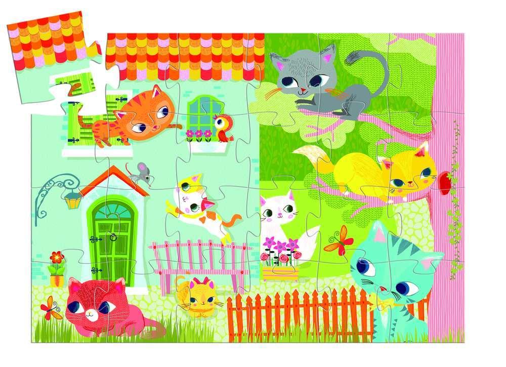 פאזל 24 - חתול וחברים