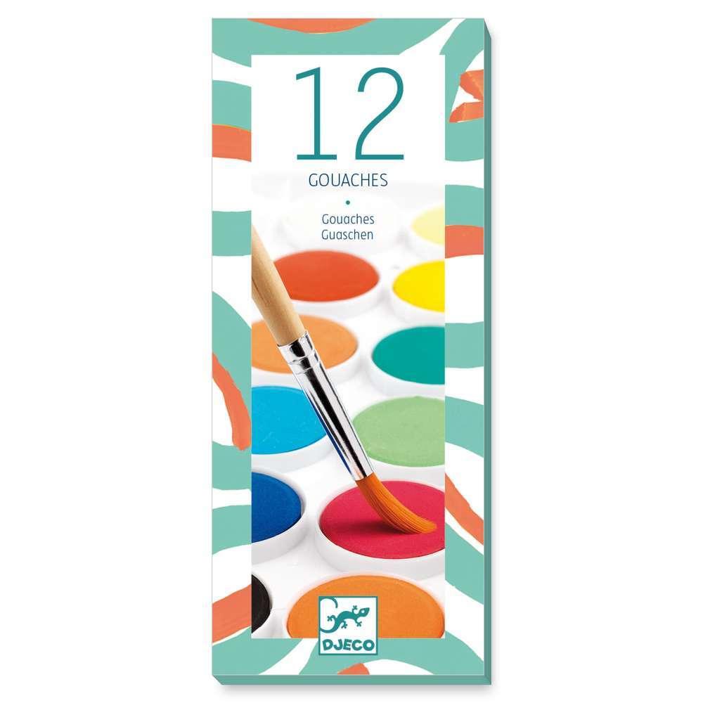 יצירה חומרים - 12 צבעי מי