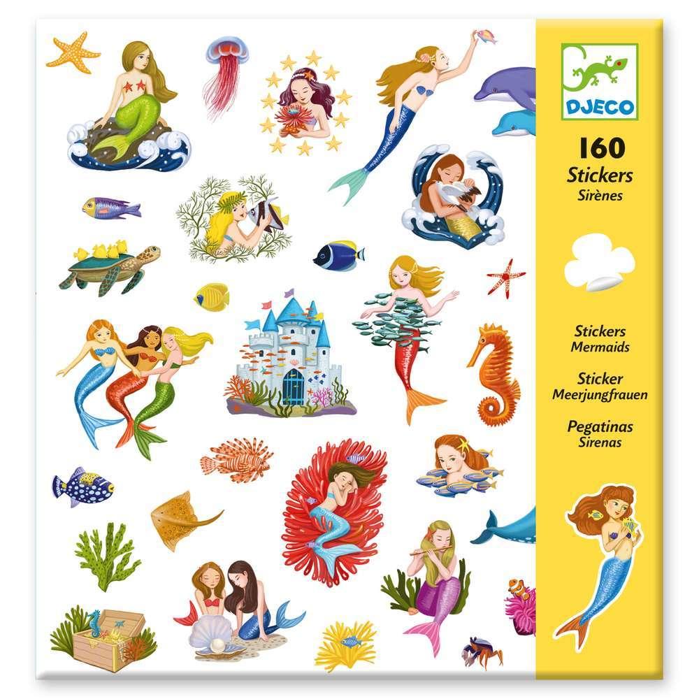 יצירה 160 מדבקות - בנות הים