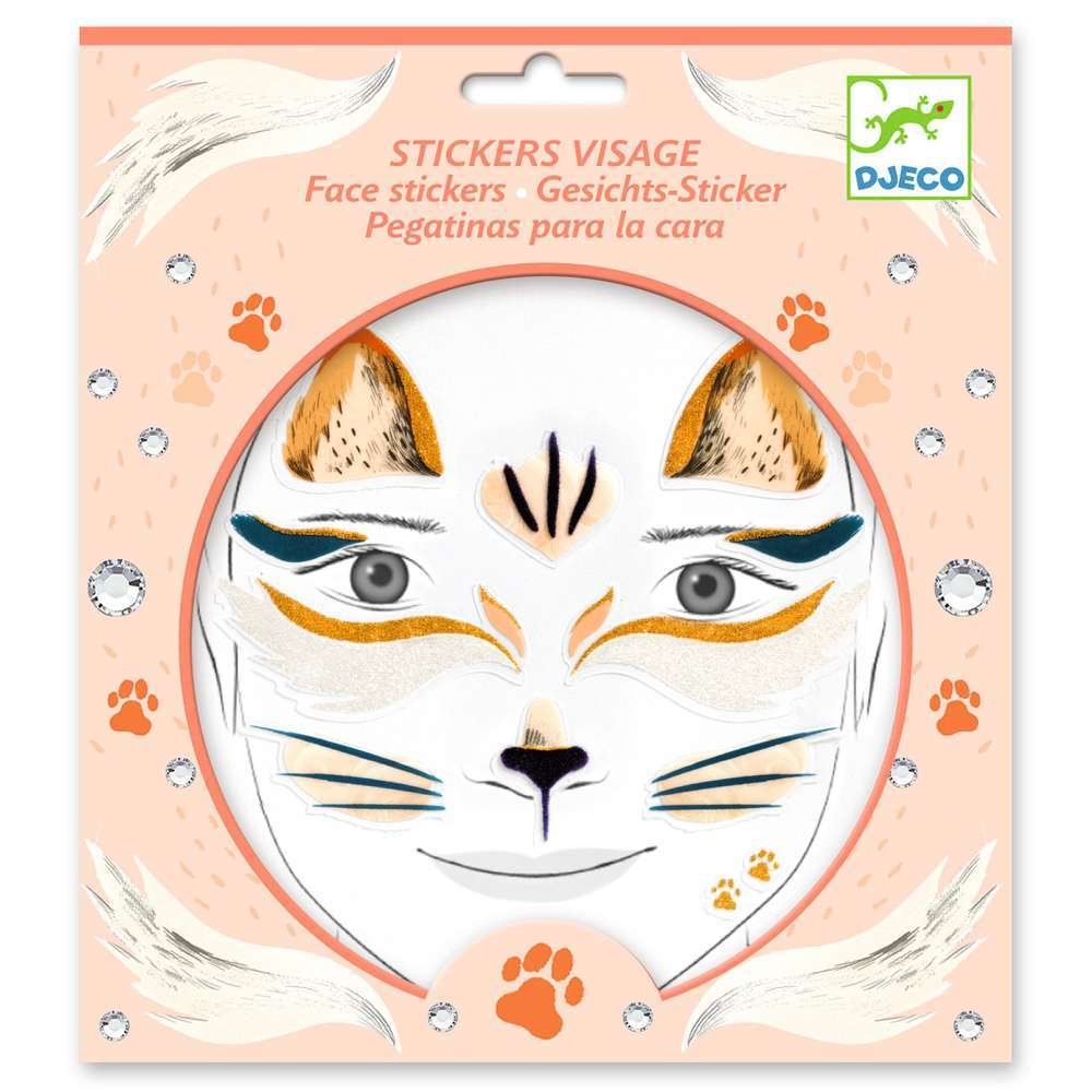 מדבקות פנים - חתולים