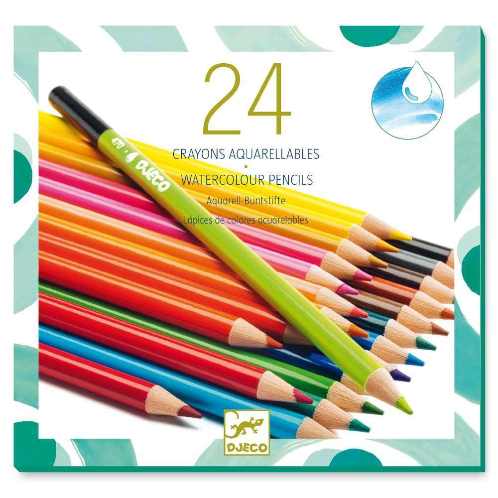 יצירה חומרים - צבעי אקוורל 24 יח