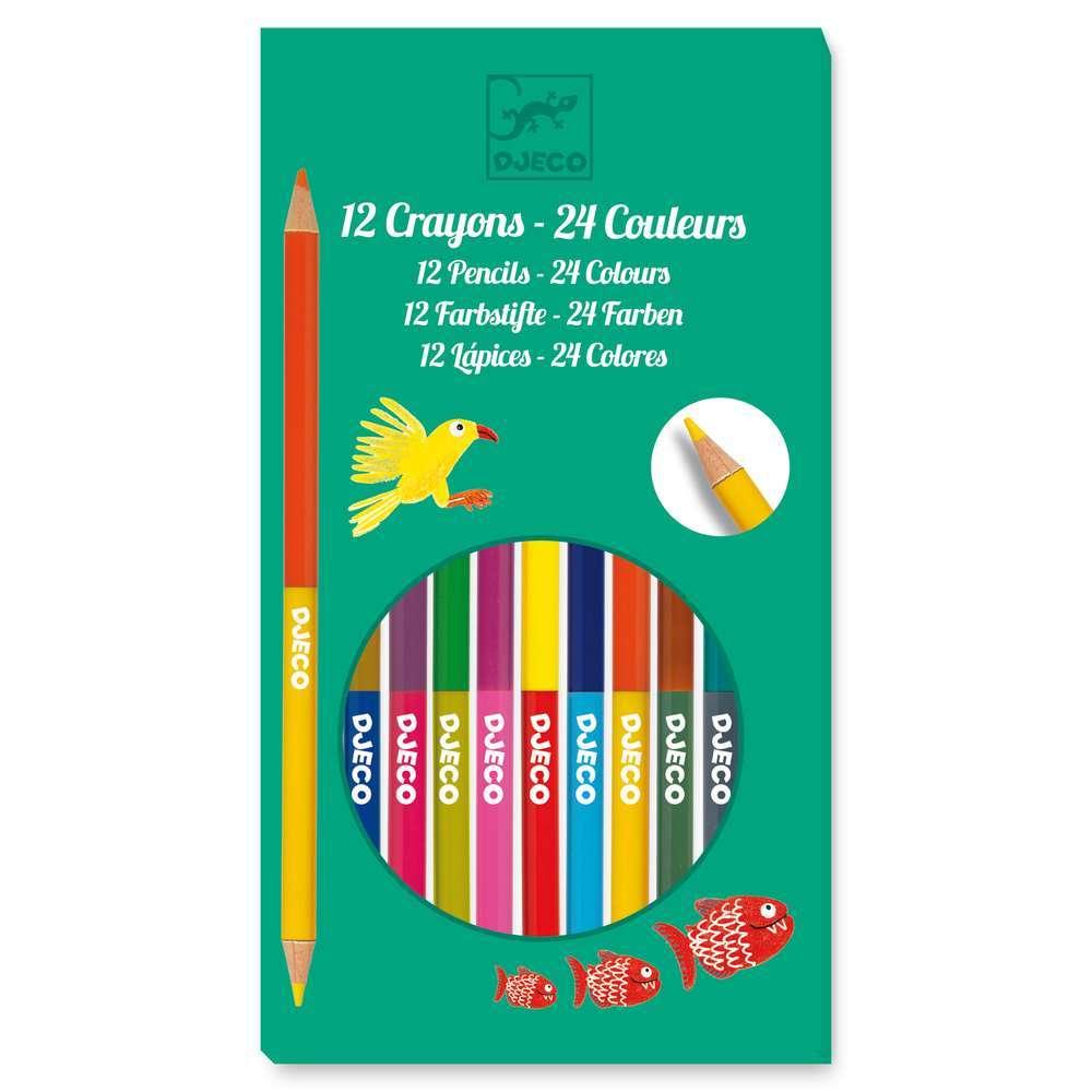 יצירה חומרים - עפרונות דו צדדיים